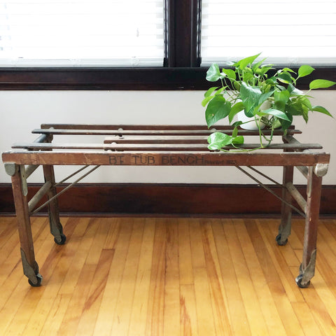 Wooden BT Tub Bench 1923