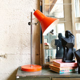 Vintage Orange Industrial Task Lamp