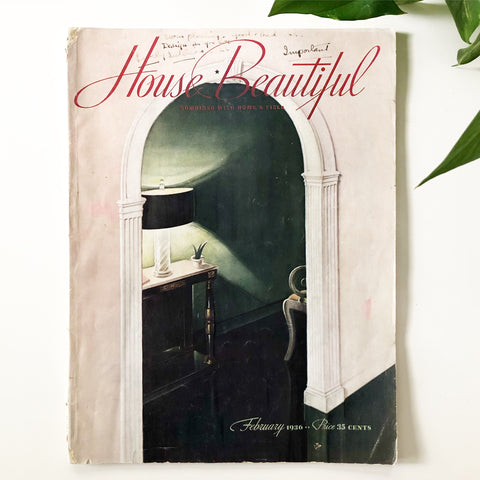 House Beautiful Magazine February 1936