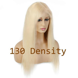 Blonde Lace Front Wig Remy Brazilian Straight