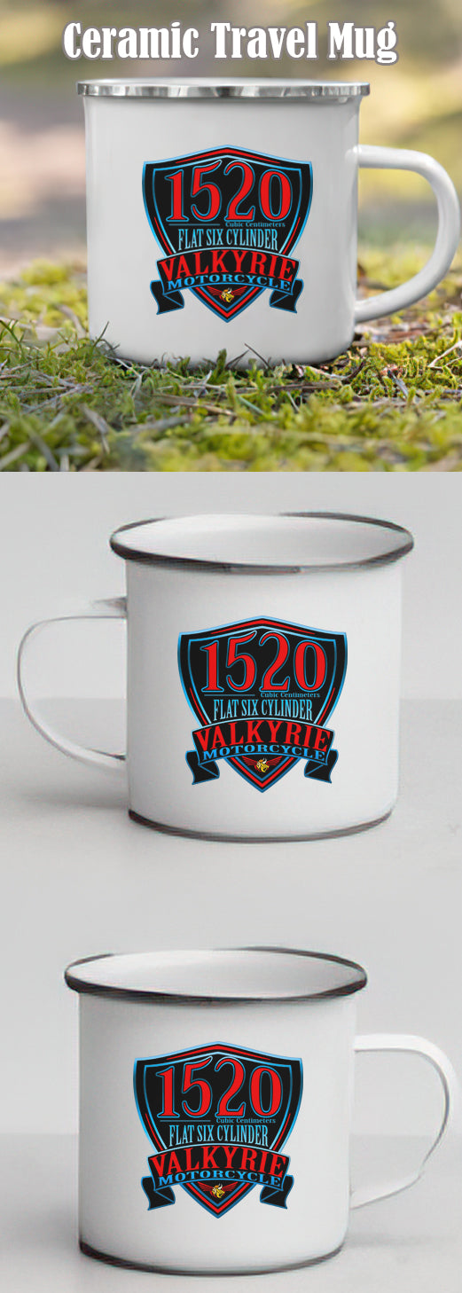Valkyrie Motorcycle Travel Enamel Mug (buy 2 $3.00 off)