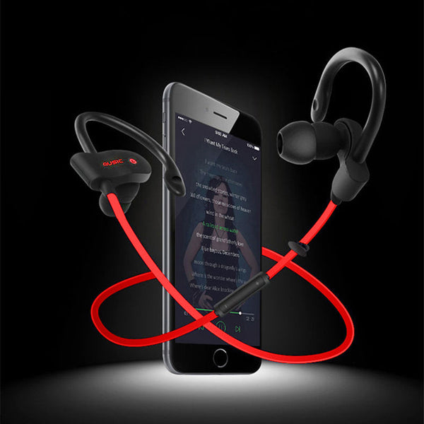 Bluetooth 4.1 Headphone Wireless Sweat-proof Sport Headphones Stereo Headset Noise Cancelling Aptx for iPhone Android - Kinggz