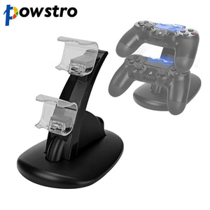 Dual USB Charge Dock For Sony Playstation 4 Controller Gamepad Handle Cradle Double Charging Charger For PS4 Games Accessories - Kinggz