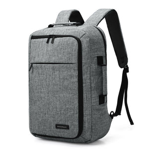 Unisex 15.6 Laptop Backpack Convertible Briefcase 2-in-1 Business Travel Luggage Carrier - Kinggz