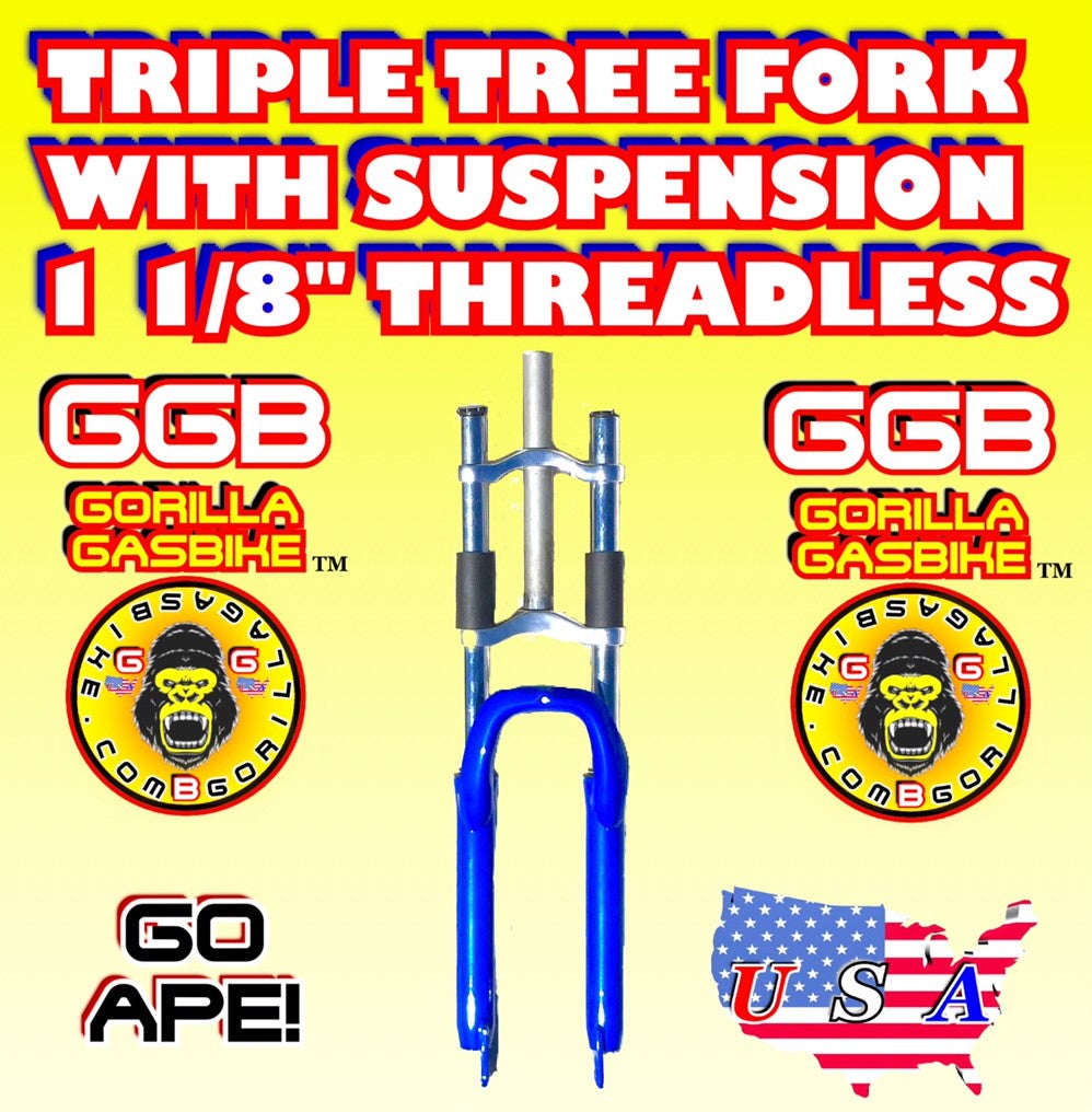 BLUE TRIPLE TREE SUSPENSION FORK 1 1/8