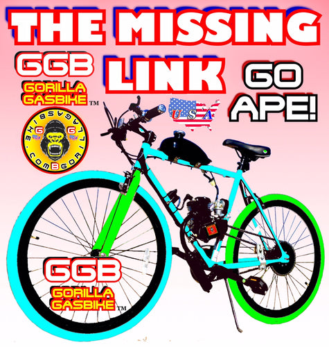 THE MISSING LINK TM COMPLETE DO-IT-YOURSELF 2-STROKE MOTORIZED BIKE SYSTEM