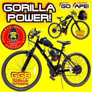 "GORILLA POWER TM COMPLETE DO-IT-YOURSELF 2-STROKE 66CC/80CC MOTORIZED 26"" MOUNTAIN BIKE SYSTEM"