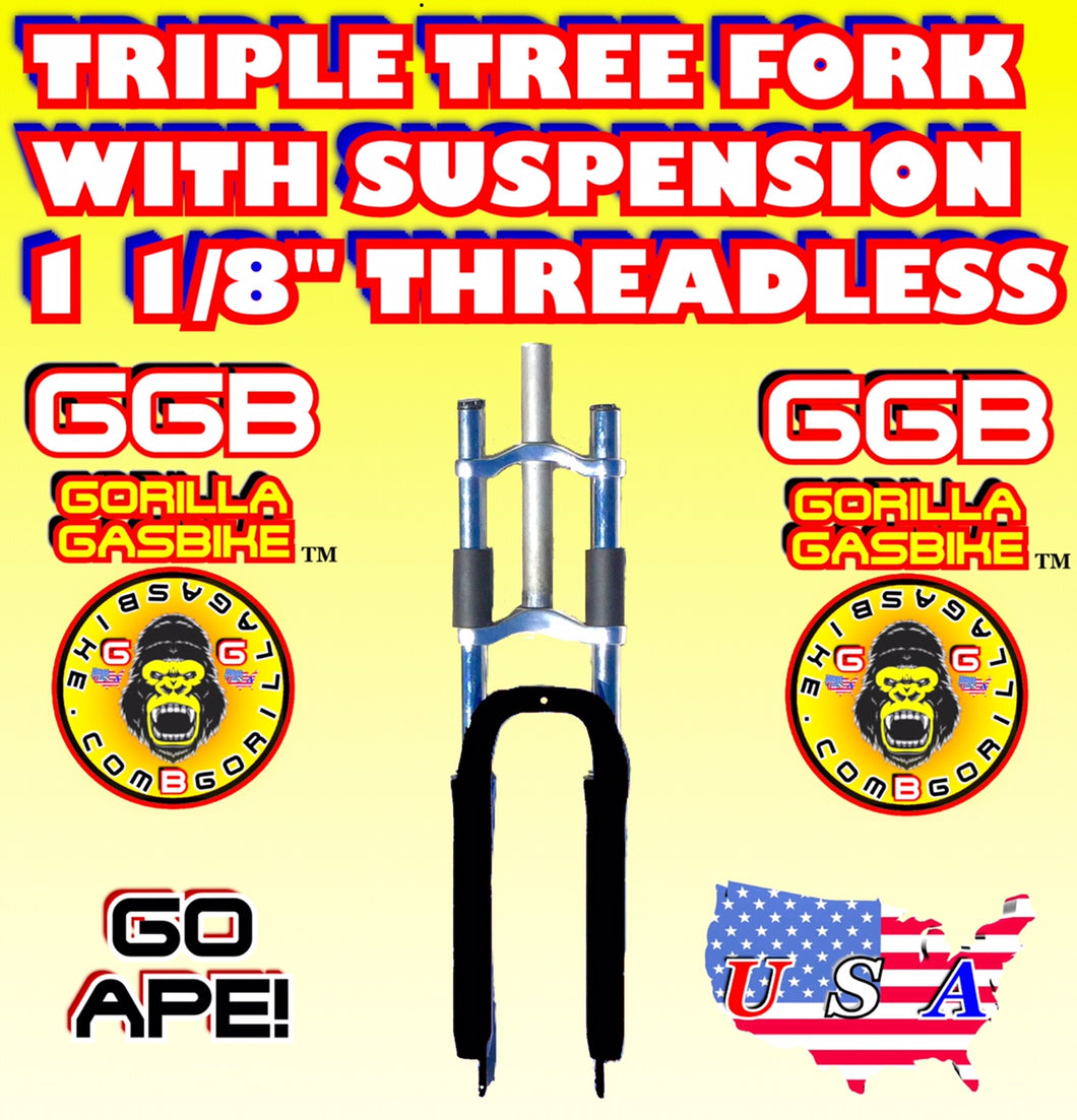 BLACK TRIPLE TREE SUSPENSION FORK 1 1/8
