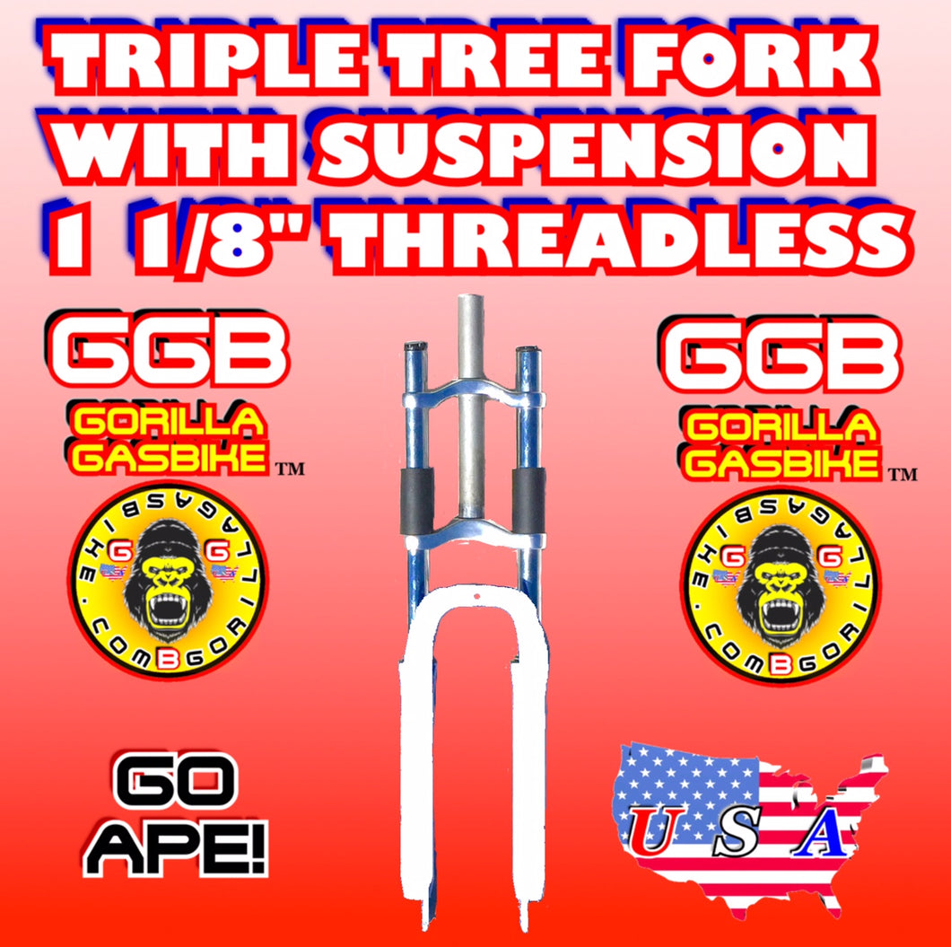 WHITE TRIPLE TREE SUSPENSION FORK 1 1/8