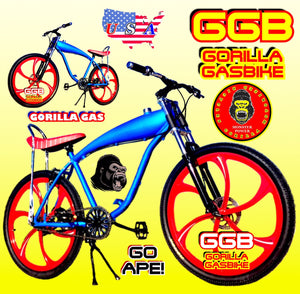 "APES OF FURY TM COMPLETE GAS TANK BIKE 26"" GAS TANK FRAME BIKE FOR 48cc/66cc/80cc 2-STROKE 4-STROKE MOTORIZED BIKE KITS"