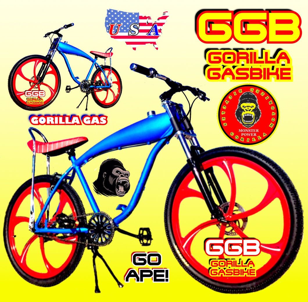 APES OF FURY TM COMPLETE GAS TANK BIKE 26