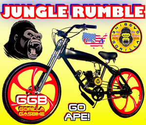 JUNGLE RUMBLE TM COMPLETE DO-IT-YOURSELF 2-STROKE 66CC/80CC MOTORIZED GAS TANK CRUISER BIKE SYSTEM