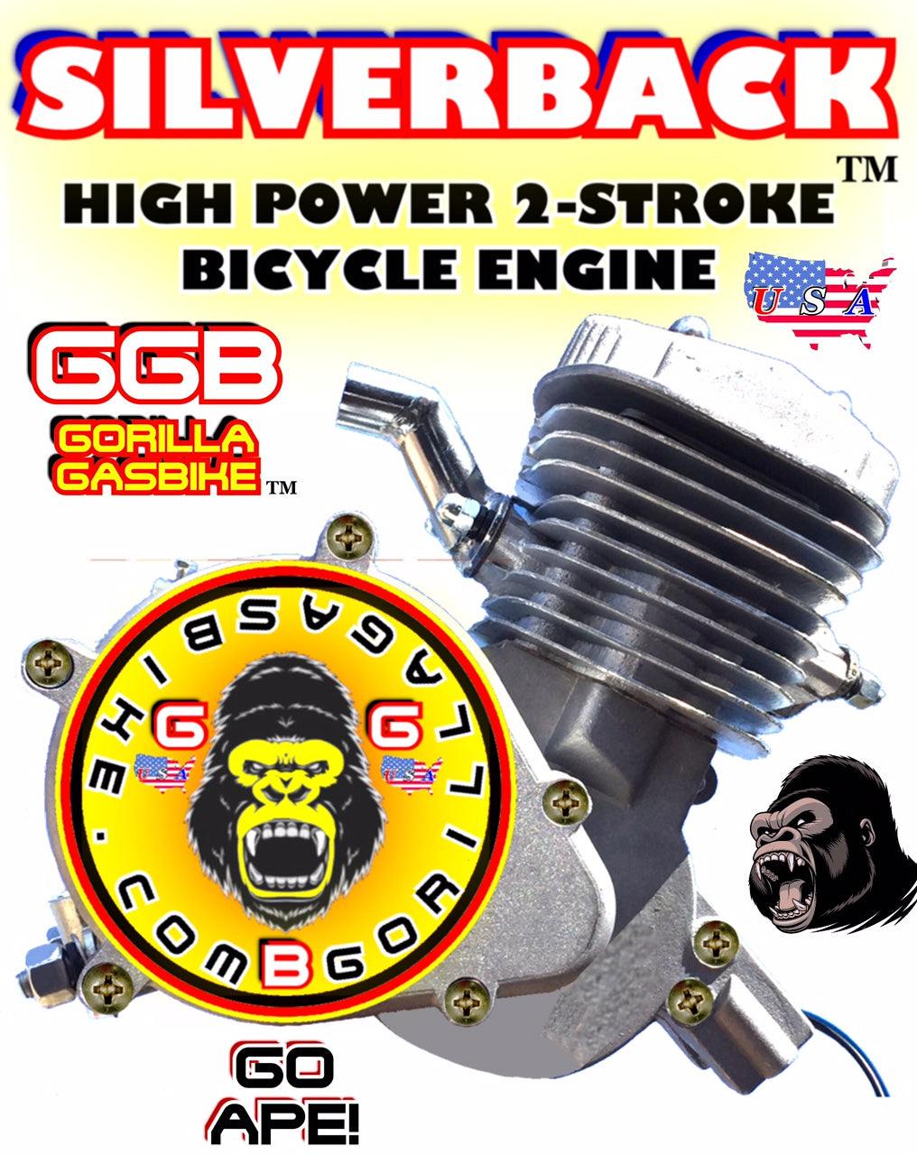 SILVERBACK TM 2-STROKE 48CC MOTORIZED BIKE ENGINE