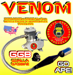 GORILLA GASBIKE VENOM TM BICYCLE ENGINE WITH POWER FLEX PIPE