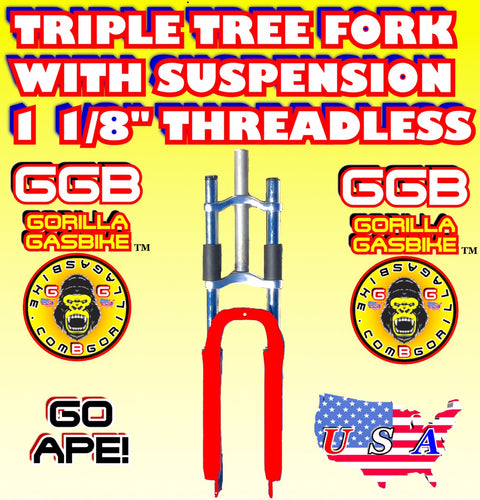 RED TRIPLE TREE SUSPENSION FORK 1 1/8