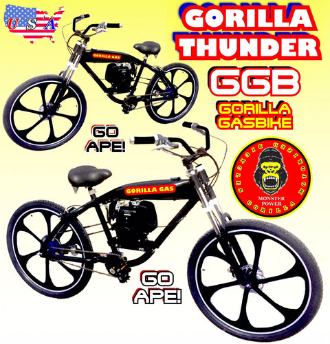 GORILLA THUNDER TM COMPLETE 4-STROKE FULLY MOTORIZED BIKE SYSTEM WITH GAS TANK FRAME BIKE 26
