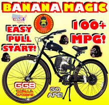 BANANA MAGIC TM COMPLETE 4-STROKE DO-IT-YOURSELF MOTORIZED BIKE SYSTEM BLACK