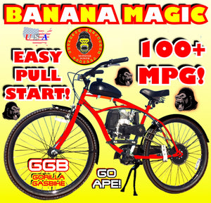 BANANA MAGIC TM COMPETE 4-STROKE DO-IT-YOURSELF MOTORIZED BIKE SYSTEM RED