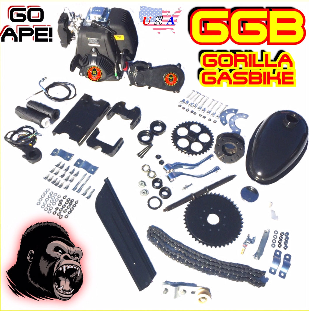SILVERBACK TM 4-STROKE BICYCLE ENGINE KIT WITH DOUBLE CHAIN TRANSMISSION
