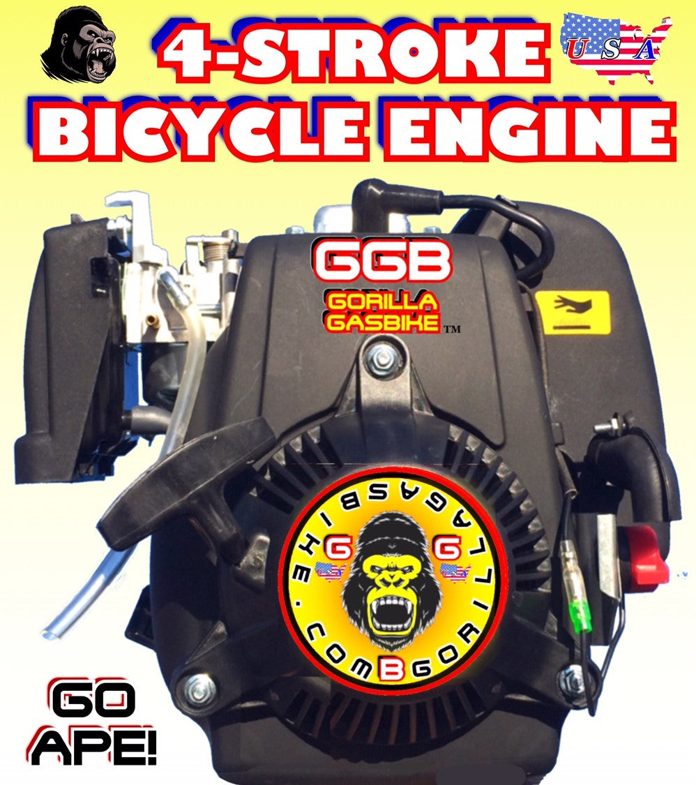 SILVERBACK TM 4-STROKE 48CC BICYCLE ENGINE WITH 5/8