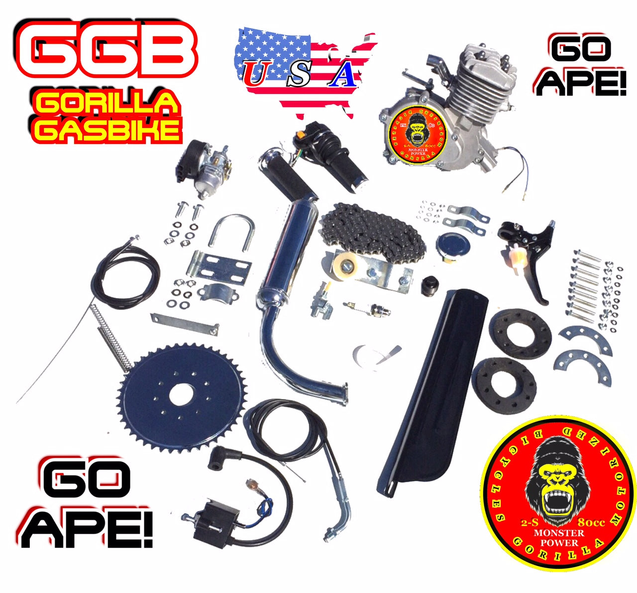Super ape tm complete do it yourself 2 stroke 66cc80cc motorized super ape tm complete do it yourself 2 stroke 66cc80cc motorized solutioingenieria Choice Image