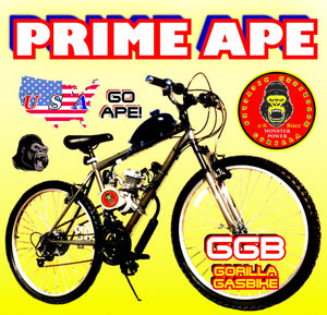 "PRIME APE TM COMPLETE DO-IT-YOURSELF 2-STROKE 66CC/80CC MOTORIZED 26"" MOUNTAIN BIKE SYSTEM"