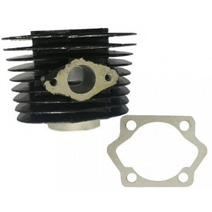 motorized bike 2-stroke Black 66cc/80cc Cylinder Body and Base Gasket (with 40mm intake stud spacing)