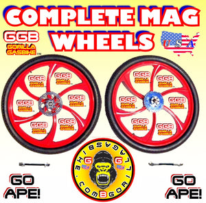 "COMPLETE 26"" MAG WHEELS FOR MOTORIZED BIKES"