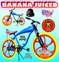"BANANA JUICED TM 26"" GAS TANK FRAME BIKE FOR 48cc/66cc/80cc 2-STROKE 4-STROKE MOTORIZED BIKE KITS"