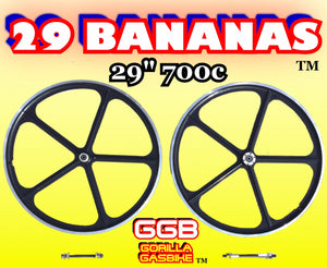 "29 BANANAS TM 29"" 700C ALUMINUM WHEELS FOR MOTORIZED BIKES"
