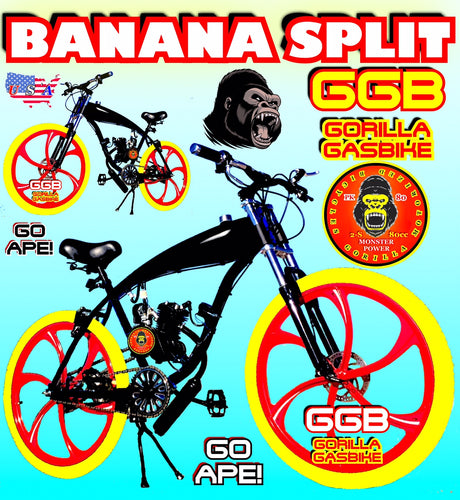 BANANA SPLIT TM COMPLETE DO-IT-YOURSELF 2-STROKE 66CC/80CC MOTORIZED GAS TANK CRUISER BIKE SYSTEM