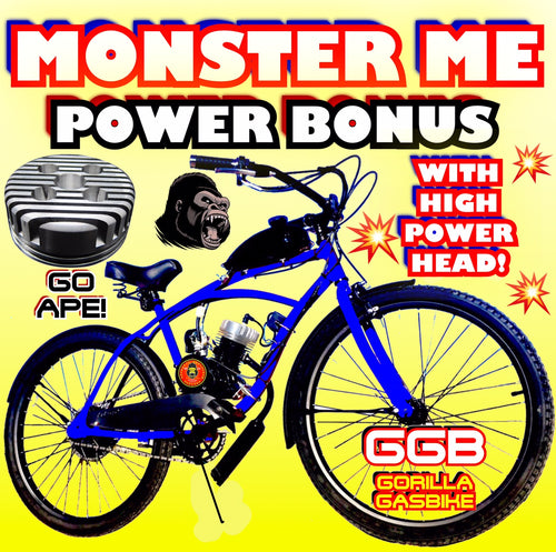 MONSTER ME TM COMPLETE DO-IT-YOURSELF 2-STROKE 66CC/80CC MOTORIZED CRUISER BIKE SYSTEM WITH POWER HEAD