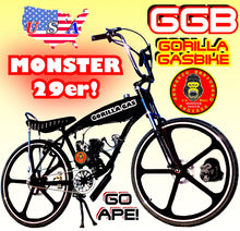 MONSTER 29ER TM FULLY MOTORIZED 2-STROKE 66CC/80CC GAS TANK CRUISER BIKE SYSTEM BLACK BLACK