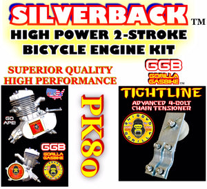 SILVERBACK TM HIGH PERFORMANCE 2-STROKE 66CC/80CC BICYCLE ENGINE KIT