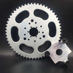 "CNC 1"" Rear Hub Adapter & Multifunctional 56 Teeth Sprocket 3+6+9 holes"