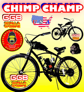 CHIMP CHAMP TM COMPLETE DO-IT-YOURSELF 2-STROKE MOTORIZED CRUISER BIKE SYSTEM BLACK