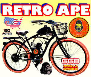 RETRO APE TM COMPLETE DO-IT-YOURSELF 2-STROKE 66CC/80CC MOTORIZED CRUISER BIKE SYSTEM