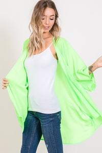 Breeze Catcher Kimono Cardigan - Neon Lime