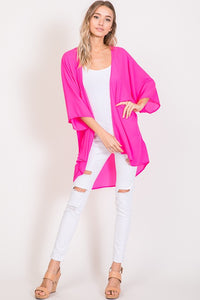 Breeze Catcher Kimono Cardigan - Bright Pink