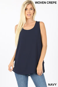 """Daniella"" Dressed Up Tank - Navy"