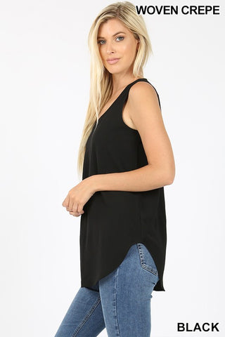 """Daniella"" Dressed Up Tank - Black"