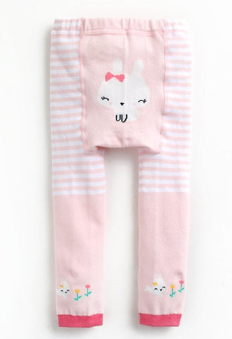 Baby Bum Bunnies in Bows Footless Tights Leggings