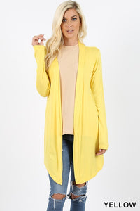 Flow Open Front Long Sleeve Cardigan