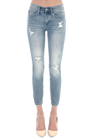 Women's Relaxed Fit Distressed Denim Jeans by Judy Blue