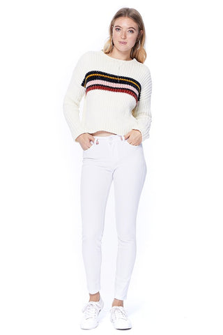 White Jeans Mid-Rise Skinny by Judy Blue