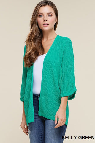Your Favorite Textured Kimono Cardigan Sweater