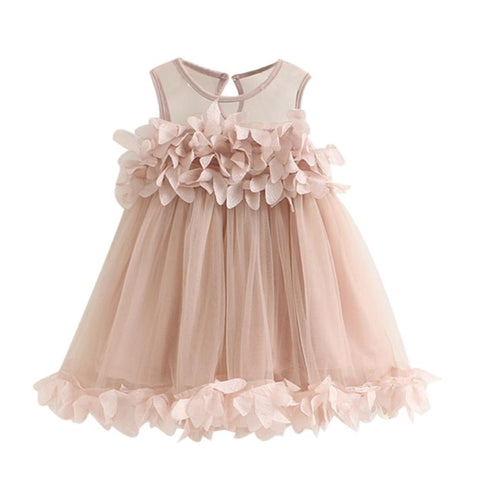 Pink Petals Tutu Party Dress for Girls - Size 2T - 5T
