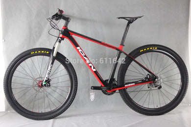 ICAN Bikes 29ER Carbon complete bicycle X5 group set 700C hard tail MTB bike Carbon MTB Wheels
