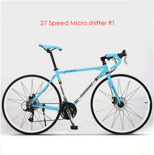 New brand 700C aluminum alloy frame 14/27 speed disc brake road bike outdoor sport racing bicicleta cycling break wind bicycle