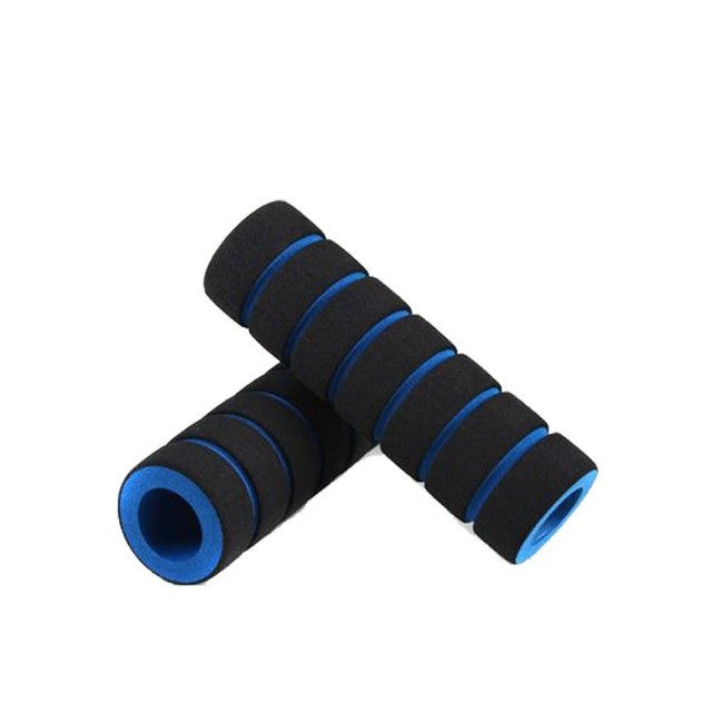 2Pc/1pair Bike Racing Bicycle Motorcycle Handle Bar Foam Sponge Grip Cover Non-slip Soft Handlebar Bike Bar wholesale #EW